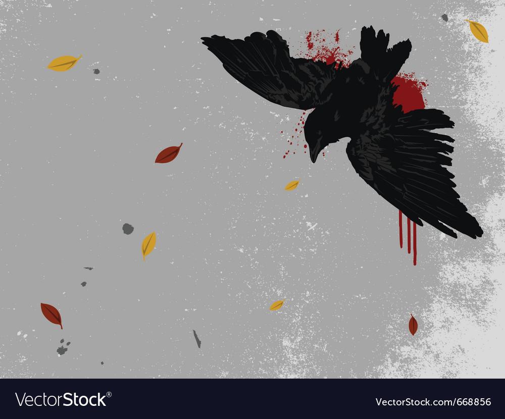 Dead bird vector | Price: 1 Credit (USD $1)