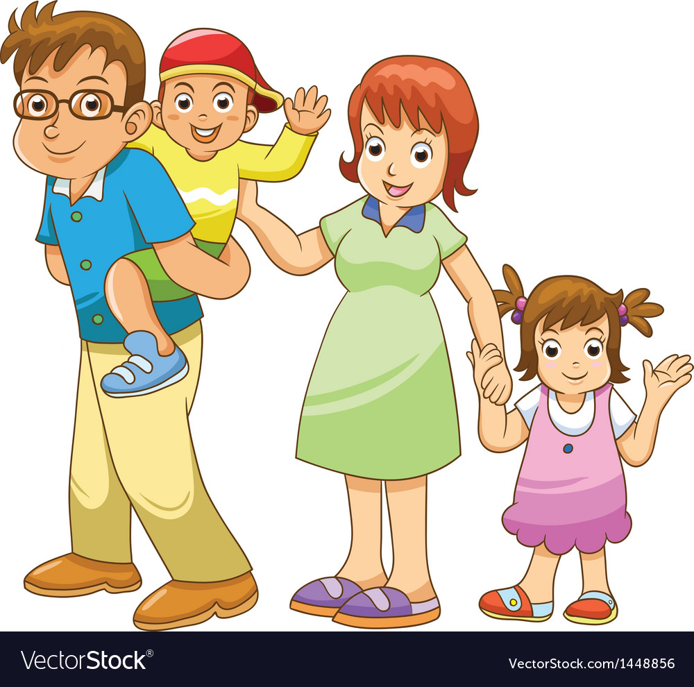 Family cartoon vector | Price: 3 Credit (USD $3)