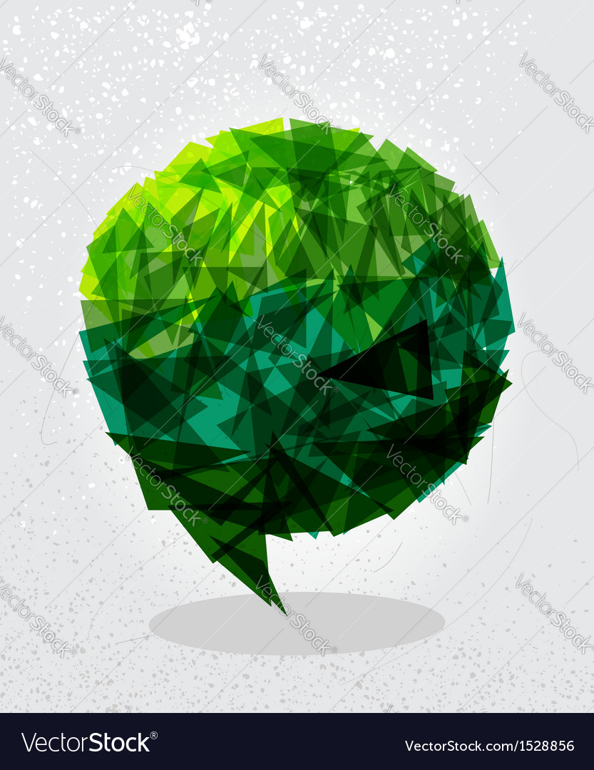 Green social bubble shape vector | Price: 1 Credit (USD $1)