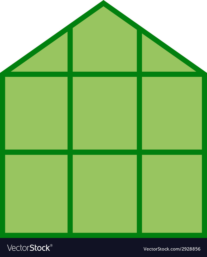 Greenhouse icon clipart vector | Price: 1 Credit (USD $1)