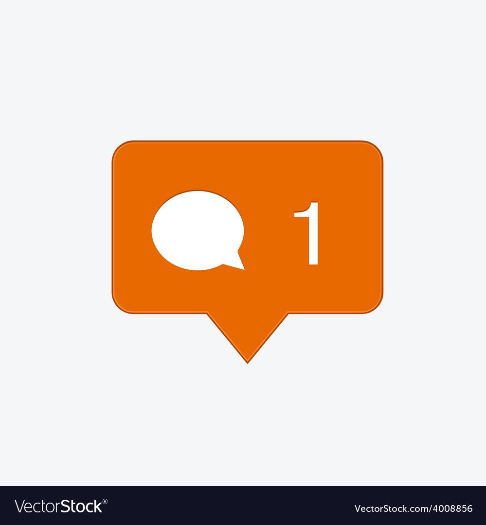 Modern comment orange icon vector | Price: 1 Credit (USD $1)