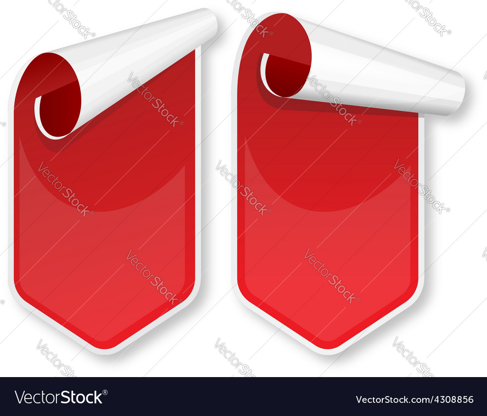 Red packing stickers set vector | Price: 1 Credit (USD $1)