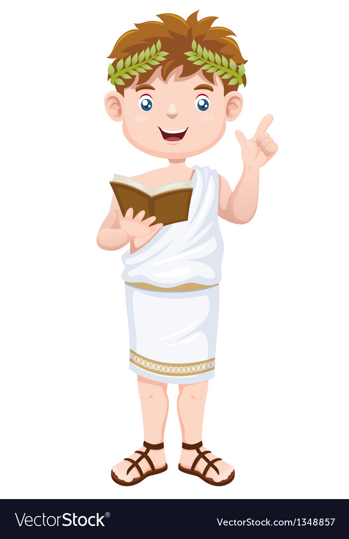 Ancient greek man cartoon vector | Price: 1 Credit (USD $1)