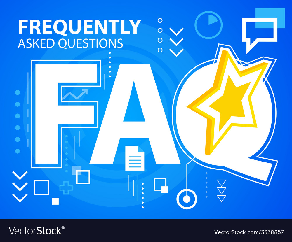Bright faq of star on blue background for ba vector | Price: 3 Credit (USD $3)