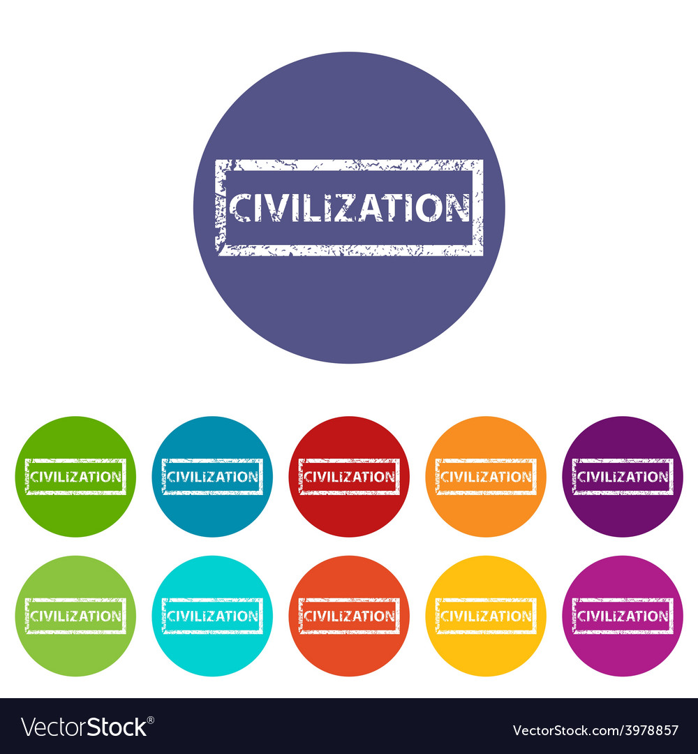 Civilization flat icon vector | Price: 1 Credit (USD $1)