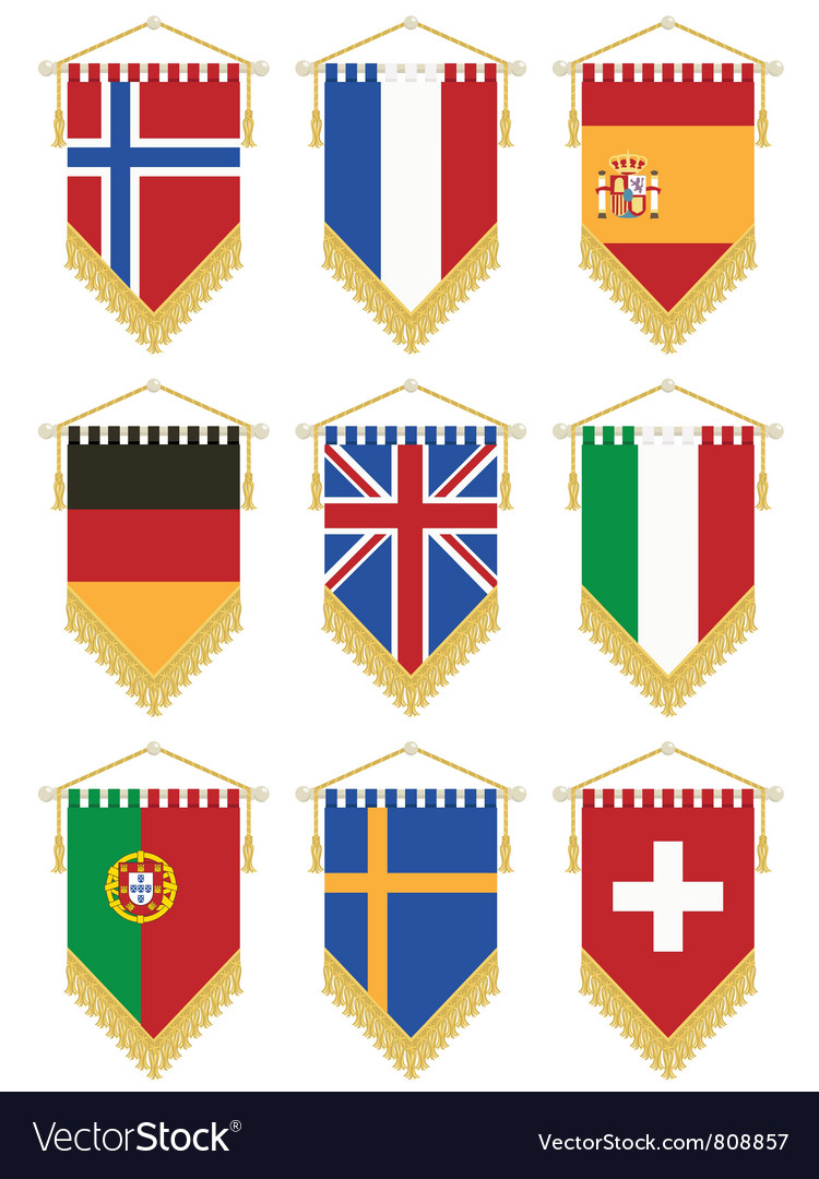 Flag pennants vector | Price: 1 Credit (USD $1)