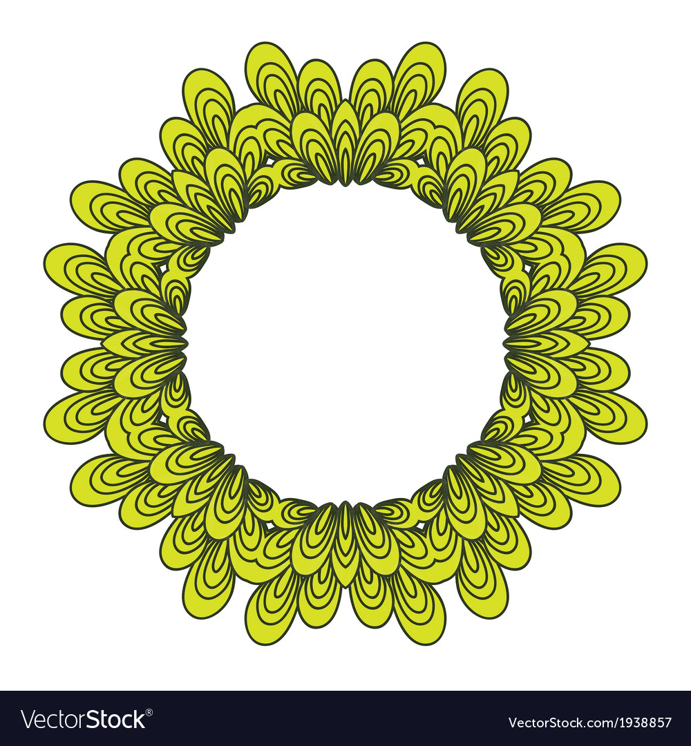 Garland with floral elements and leaves vector | Price: 1 Credit (USD $1)