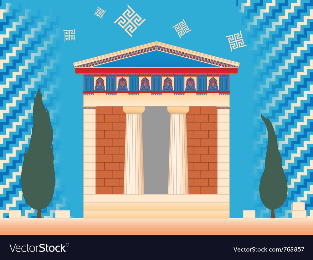 Greek ancient treasury vector | Price: 3 Credit (USD $3)