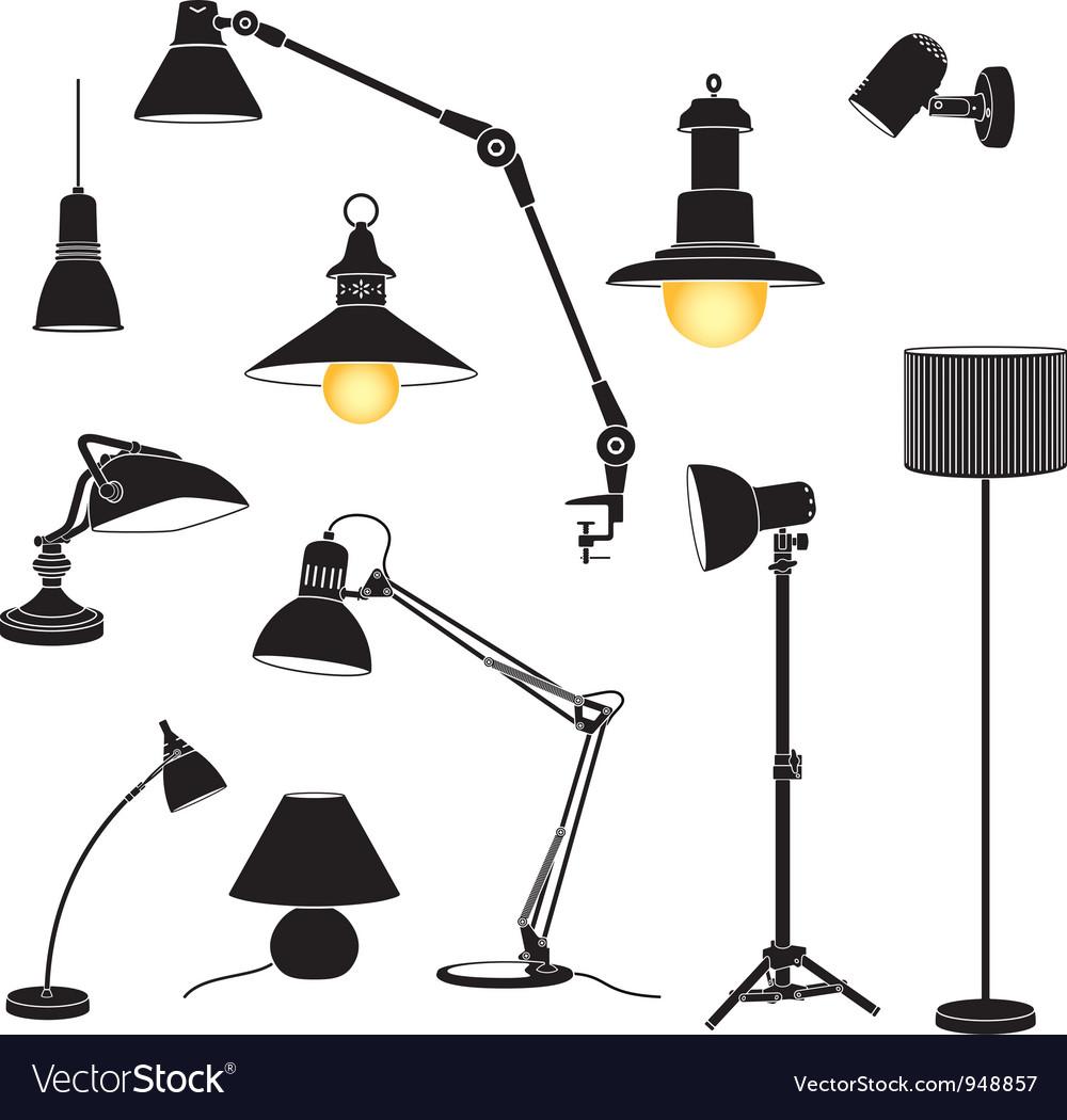 Lamp set vector | Price: 1 Credit (USD $1)