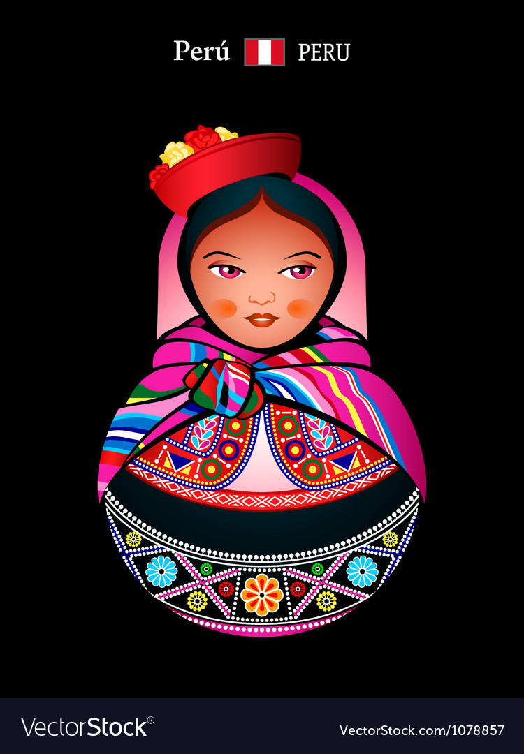 Matryoshka peru vector | Price: 1 Credit (USD $1)