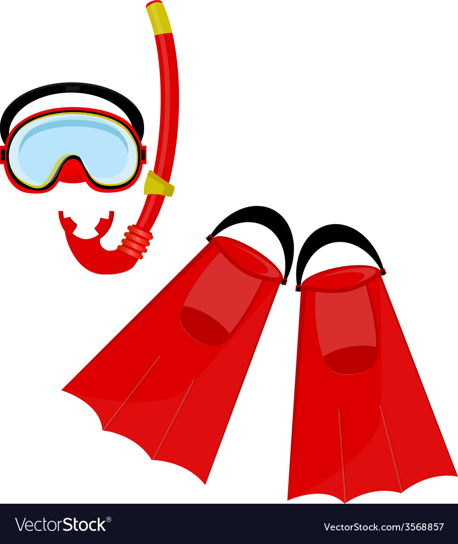 Red swimming equipment vector | Price: 1 Credit (USD $1)