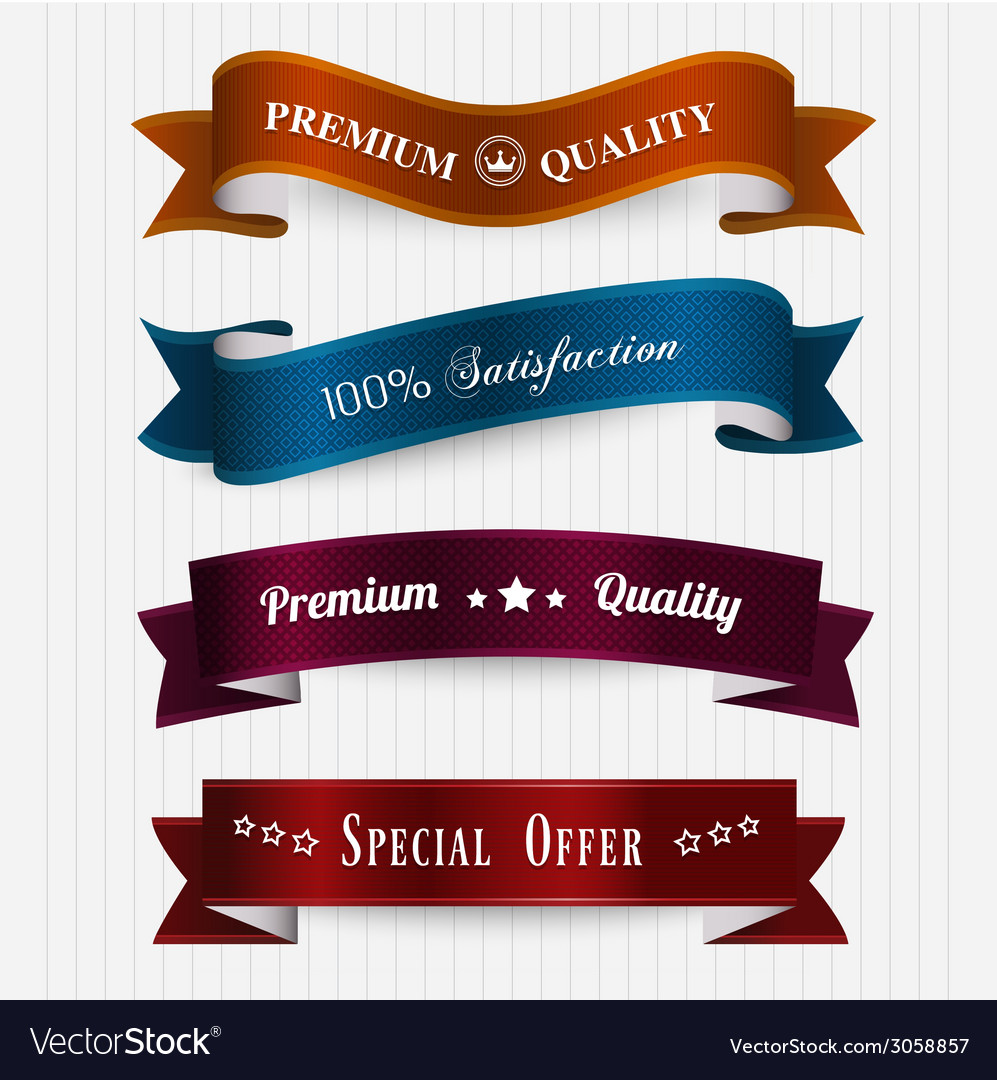 Set of retro vintage labels vector | Price: 1 Credit (USD $1)