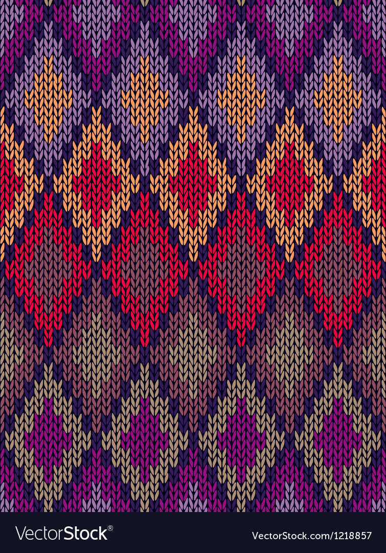 Style seamless color knitted ornament pattern vector   Price: 1 Credit (USD $1)