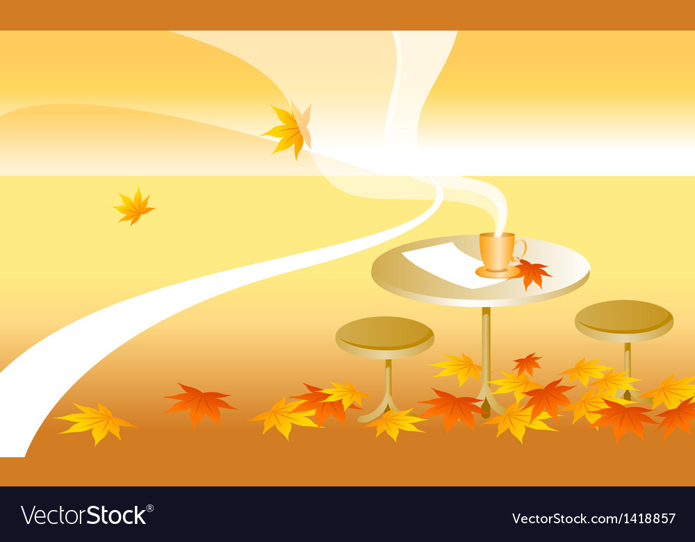 Table autumn leaves vector   Price: 1 Credit (USD $1)