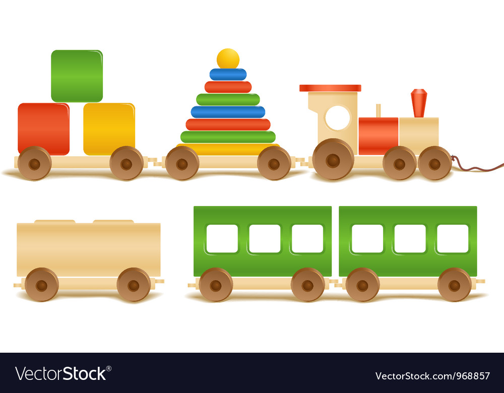 Wooden color toys vector | Price: 1 Credit (USD $1)