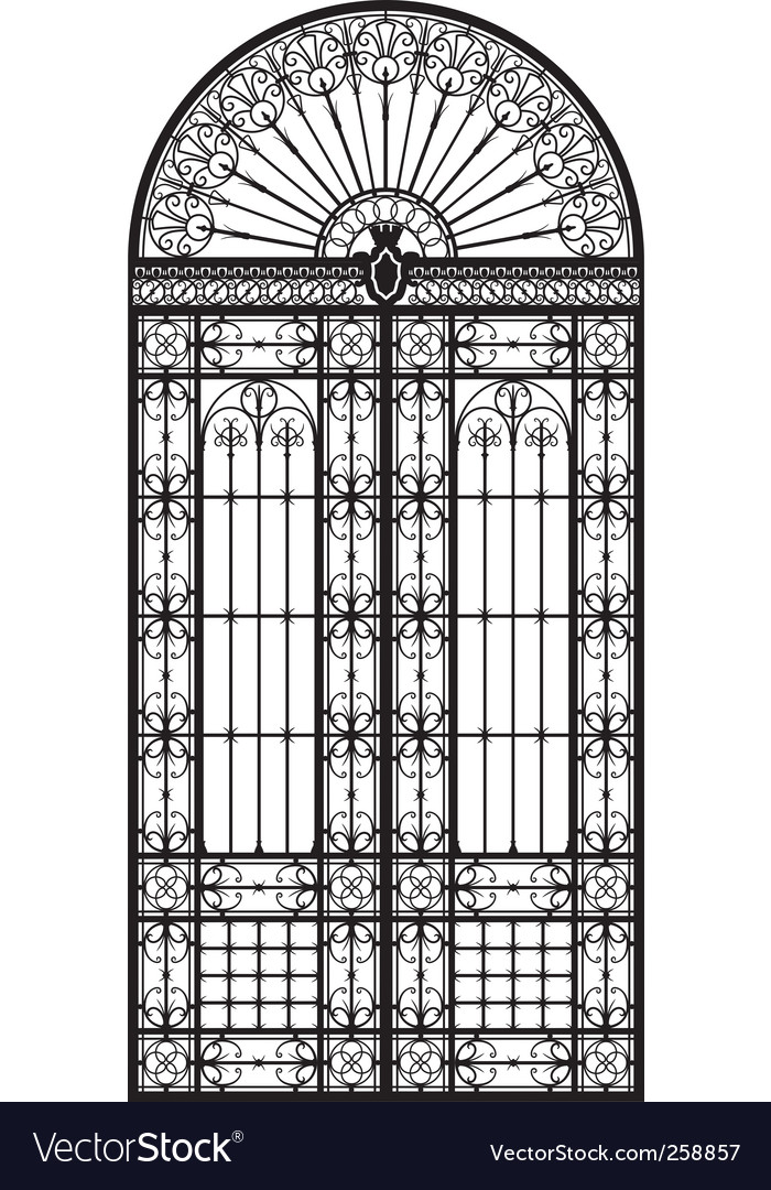 Wrought iron portal vector | Price: 1 Credit (USD $1)