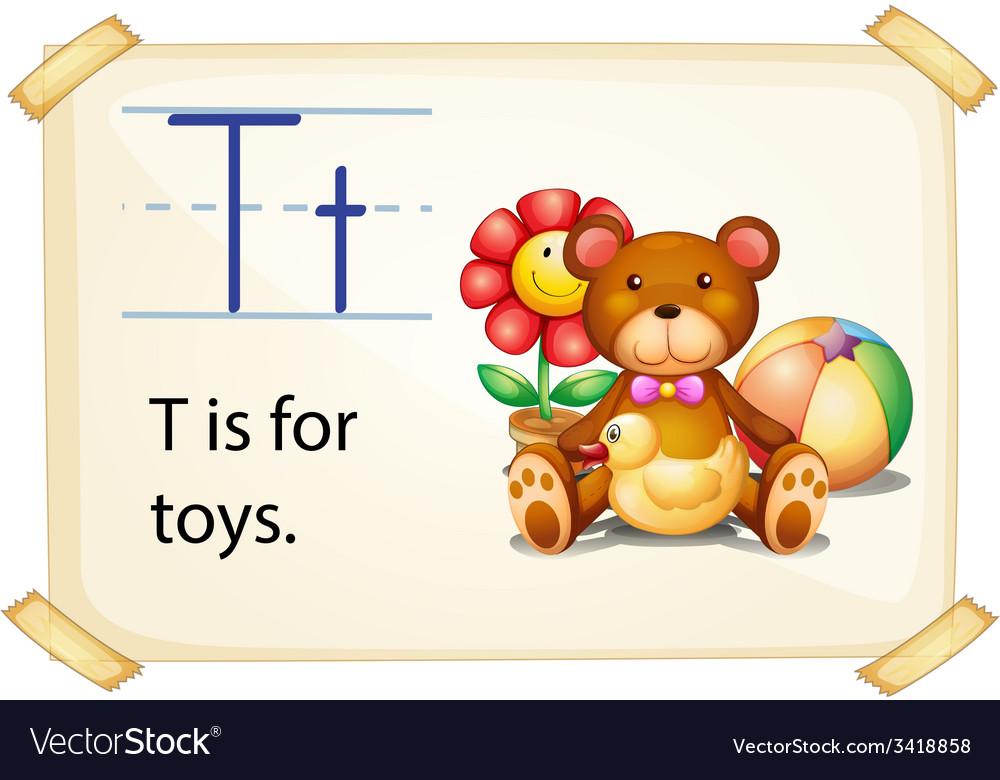 A letter t for toys vector | Price: 1 Credit (USD $1)