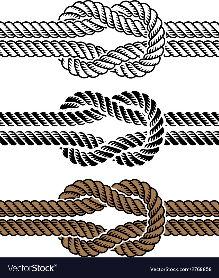 Black rope knot symbols vector | Price: 1 Credit (USD $1)