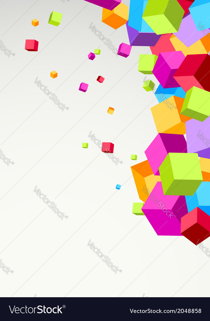 Bright colorful cubes background template vector | Price: 1 Credit (USD $1)