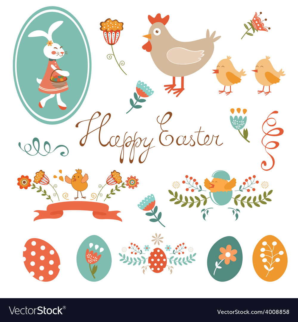 Colorful easter collection vector | Price: 1 Credit (USD $1)