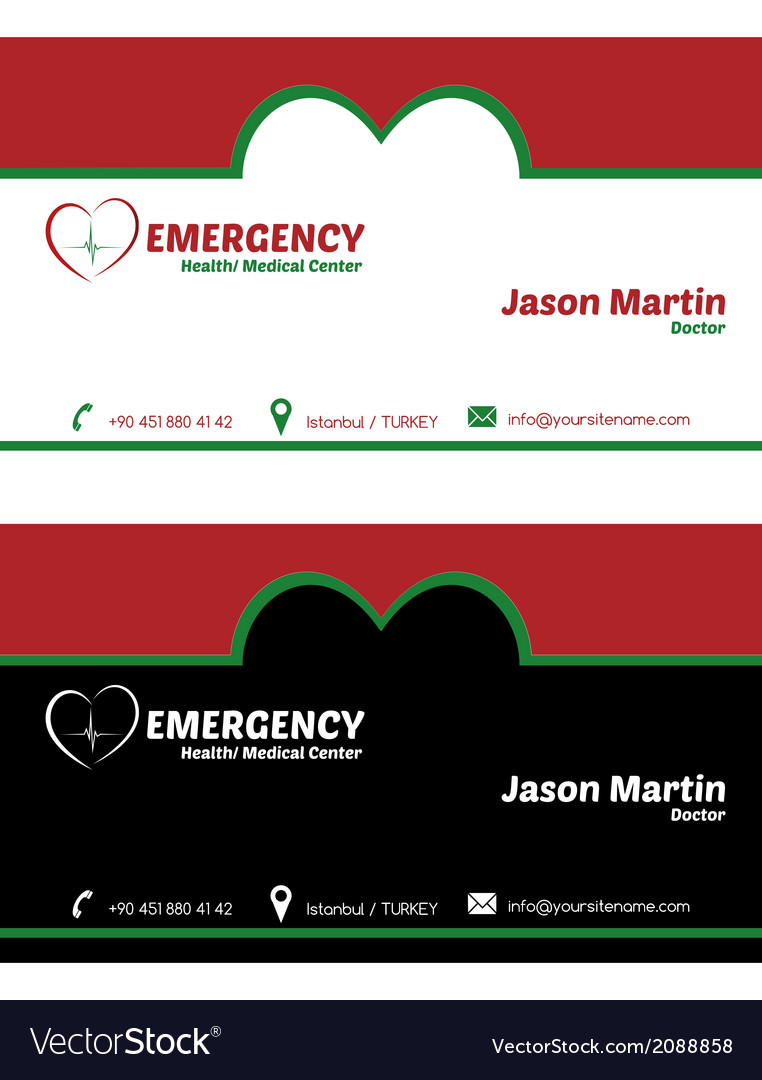 Emergency business card vector | Price: 1 Credit (USD $1)