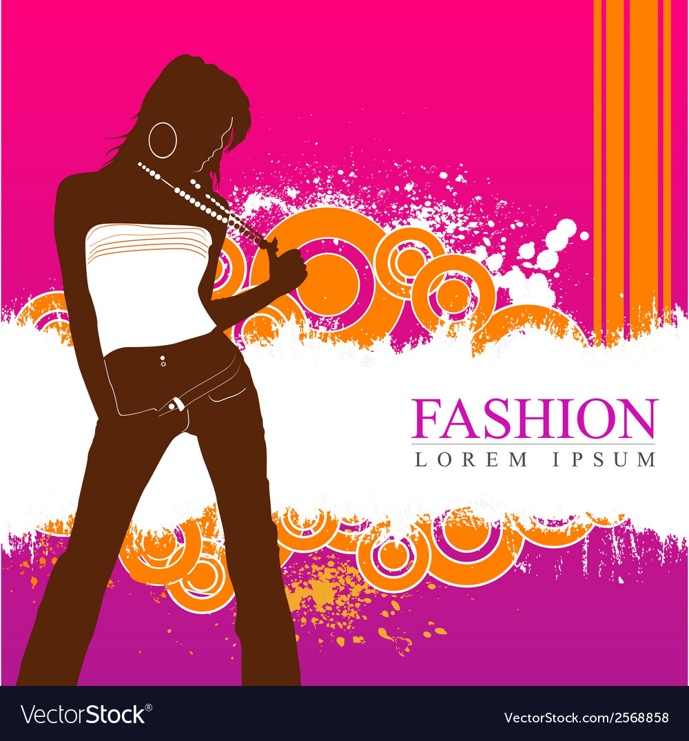 Fashion women model vector | Price: 1 Credit (USD $1)