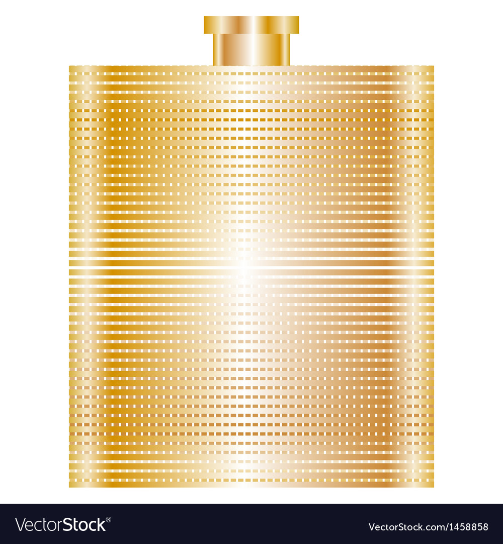 Gold flask vector | Price: 1 Credit (USD $1)
