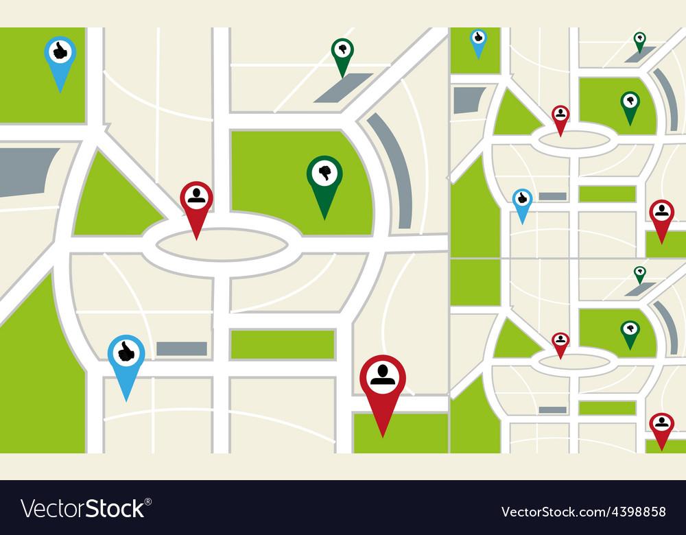 Map navigation background vector | Price: 3 Credit (USD $3)