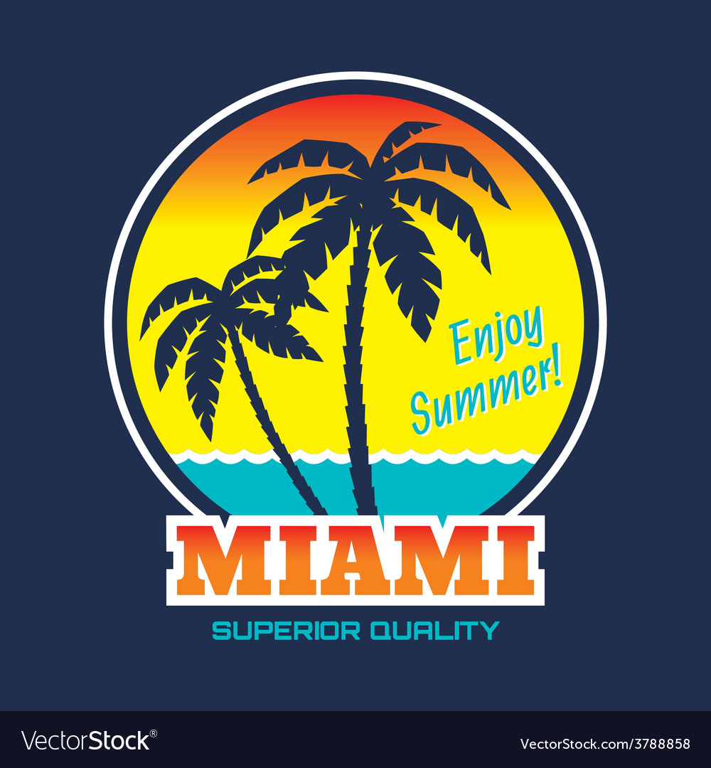 Miami - vintage badge vector | Price: 1 Credit (USD $1)