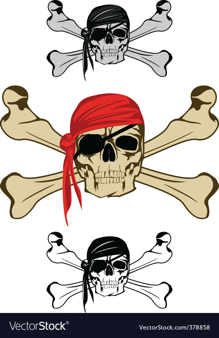 Piracy skull vector | Price: 1 Credit (USD $1)