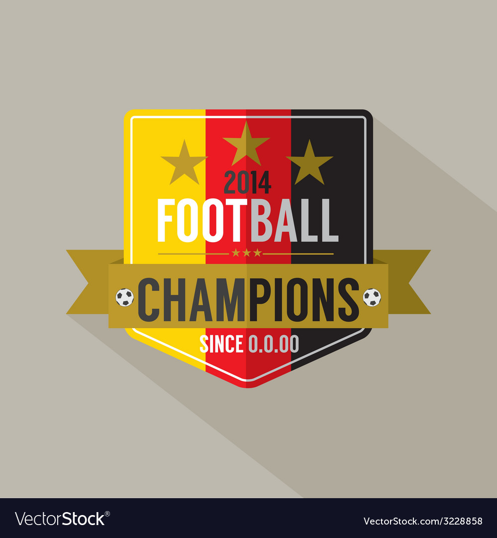 Soccer or football champions badge vector | Price: 1 Credit (USD $1)