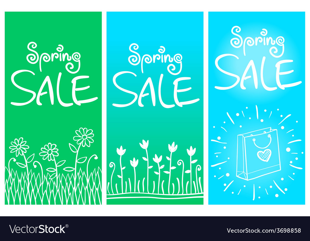 Spring sale banners 001 vector | Price: 1 Credit (USD $1)