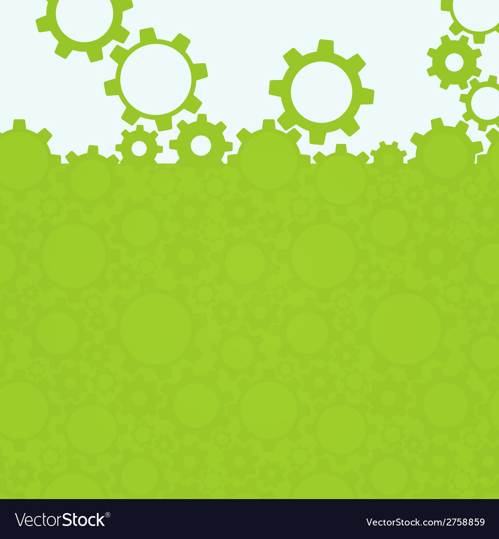 Abstract simple green gear background vector | Price: 1 Credit (USD $1)