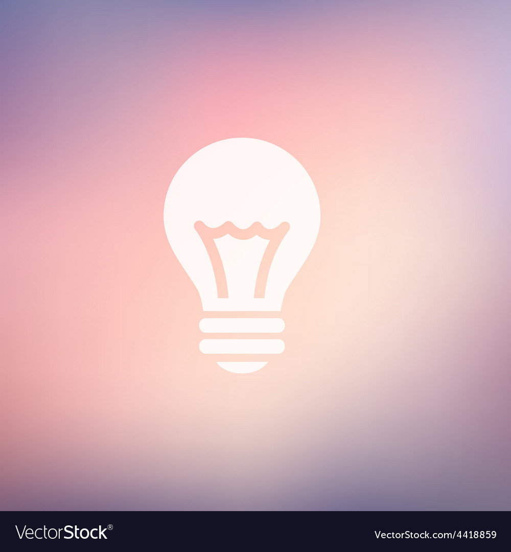 Bulb idea in flat style icon vector | Price: 1 Credit (USD $1)