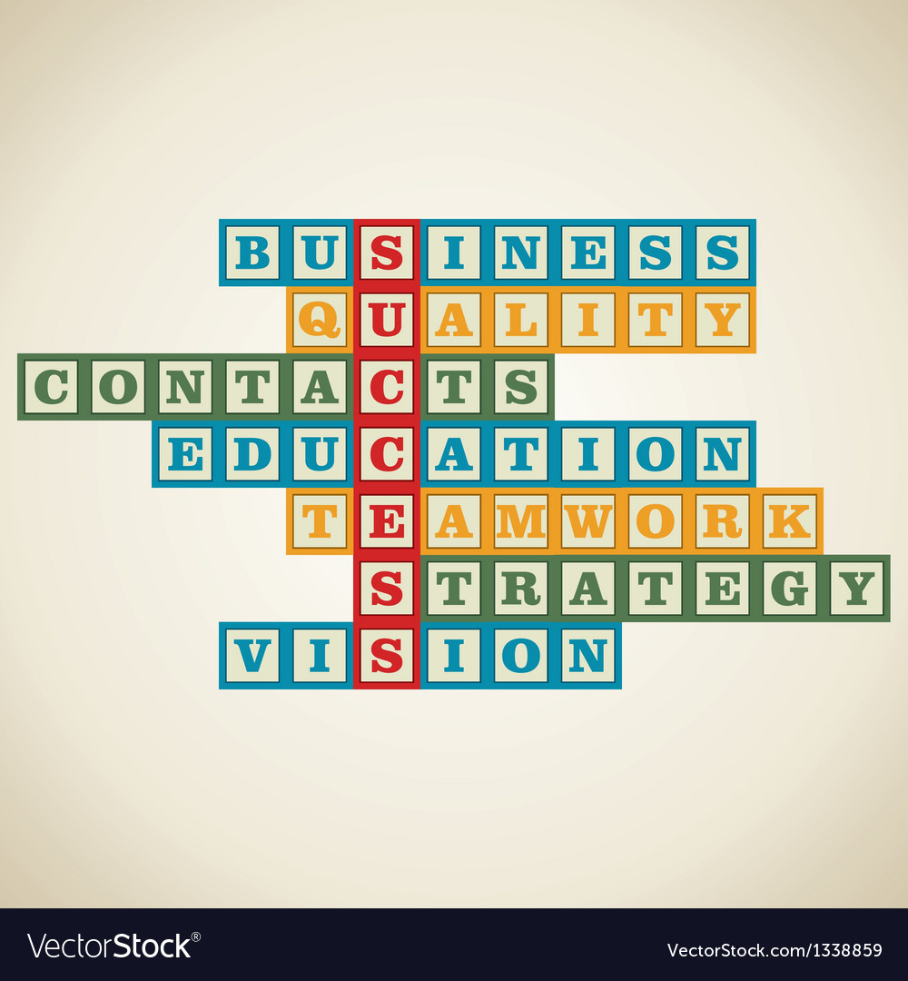 Business builiding blocks vector | Price: 1 Credit (USD $1)