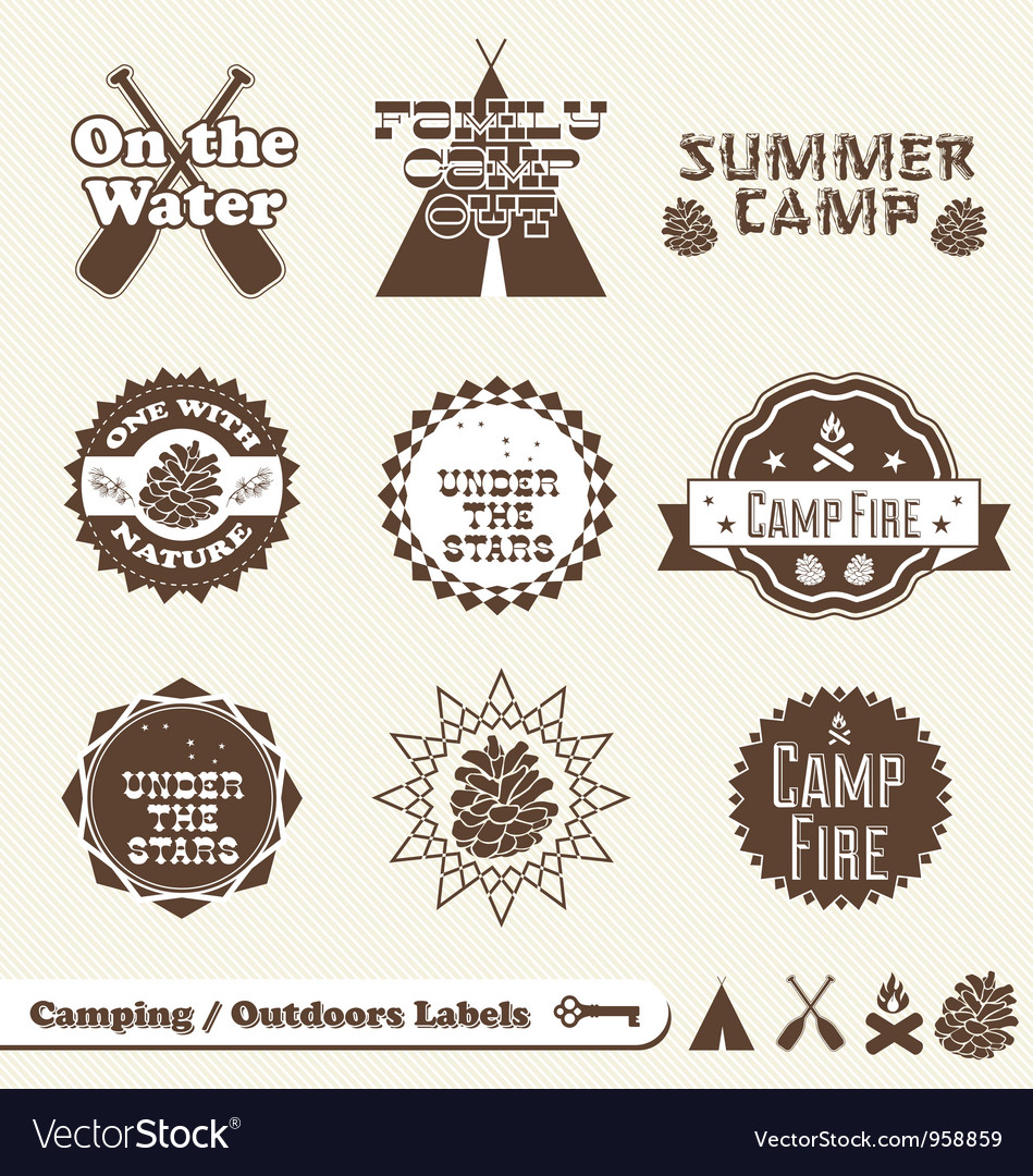 Camping labels vector | Price: 1 Credit (USD $1)