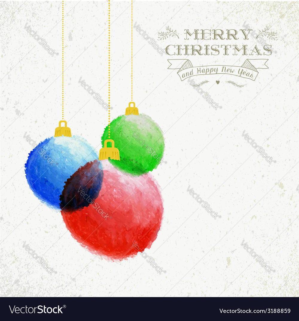 Christmas oil pastel baubles hand drawn vector | Price: 1 Credit (USD $1)