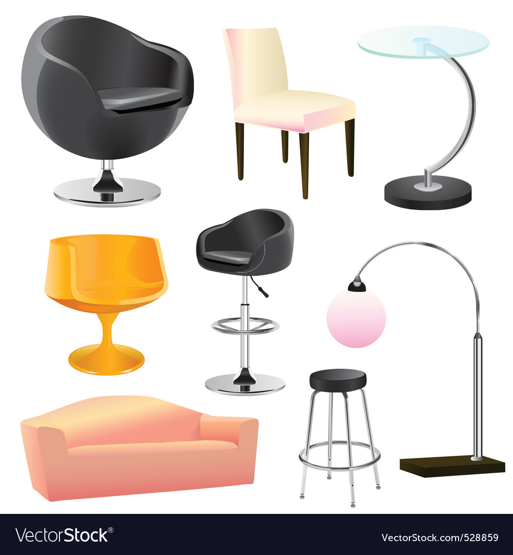 Furniture objects vector | Price: 3 Credit (USD $3)