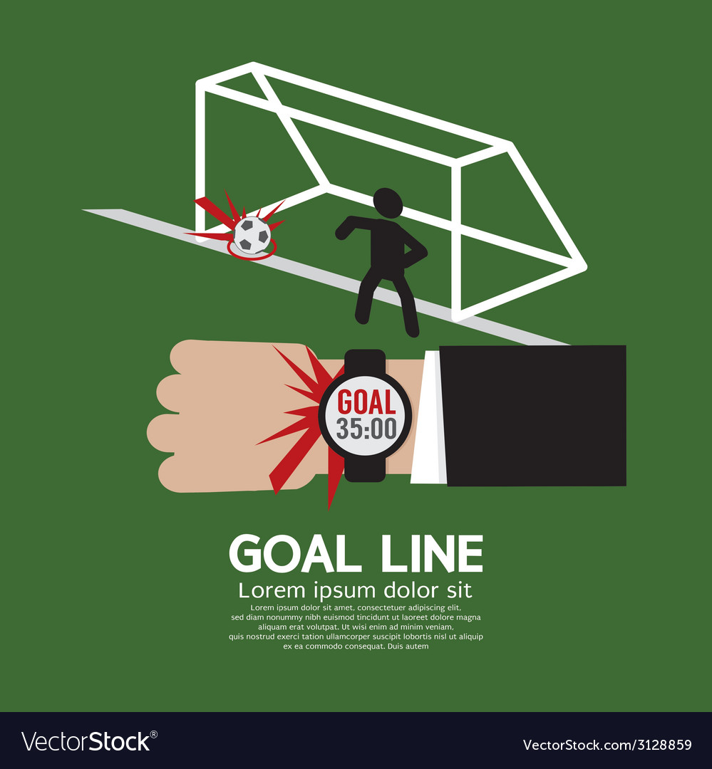 Goal line sport vector | Price: 1 Credit (USD $1)