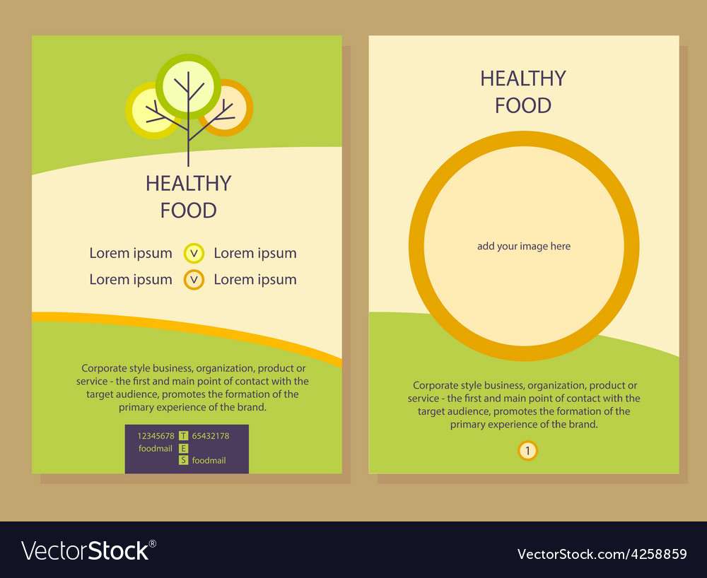 Healthy food template flyer vector | Price: 1 Credit (USD $1)