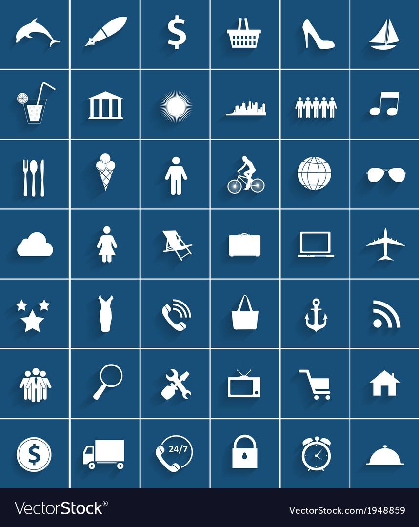 Mega set of flat icons vector | Price: 1 Credit (USD $1)
