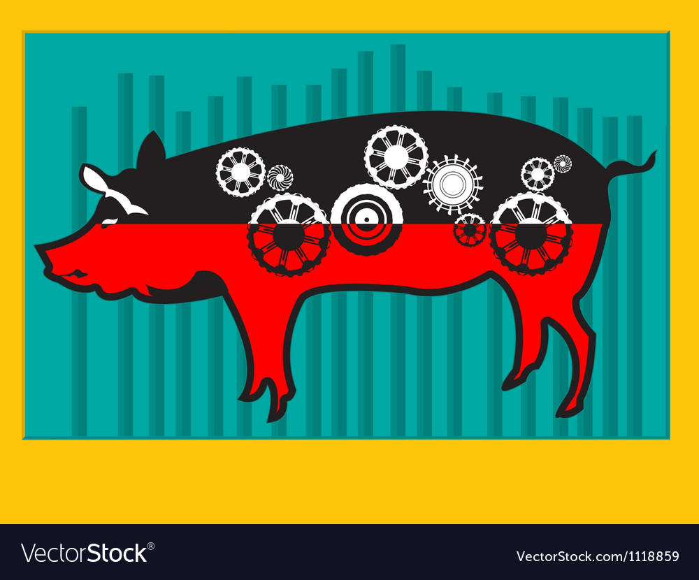 Pig machine vector | Price: 1 Credit (USD $1)