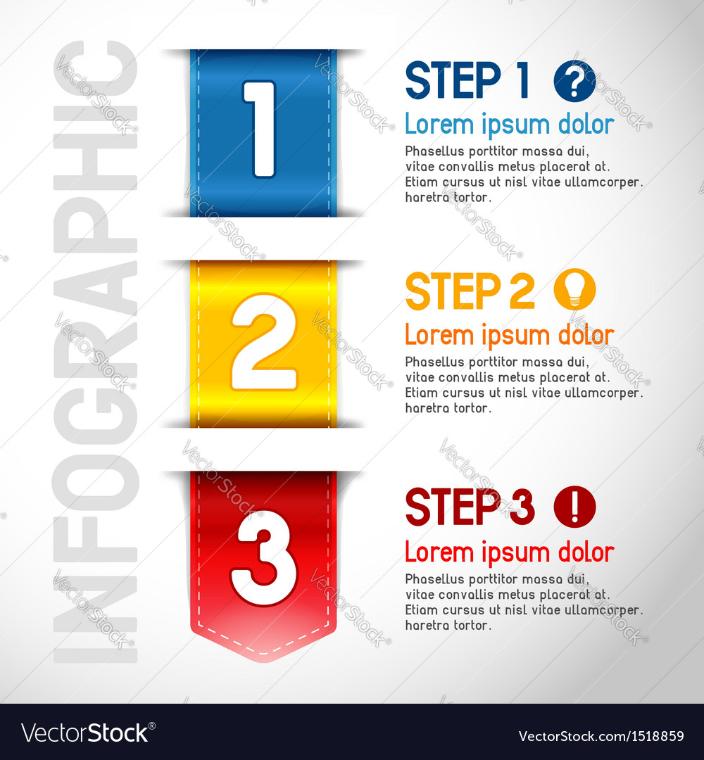 Progress steps vector | Price: 1 Credit (USD $1)