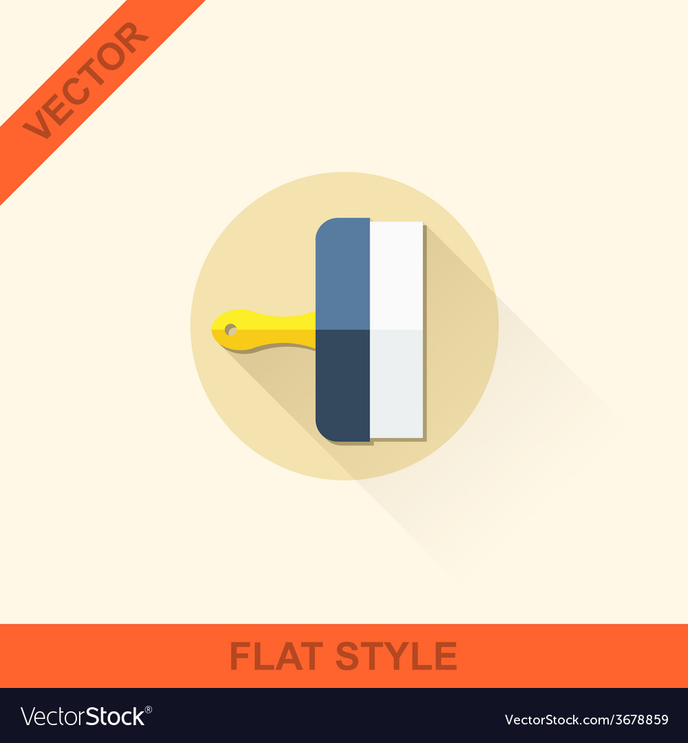 Spatula in a flat style with shadow vector | Price: 1 Credit (USD $1)