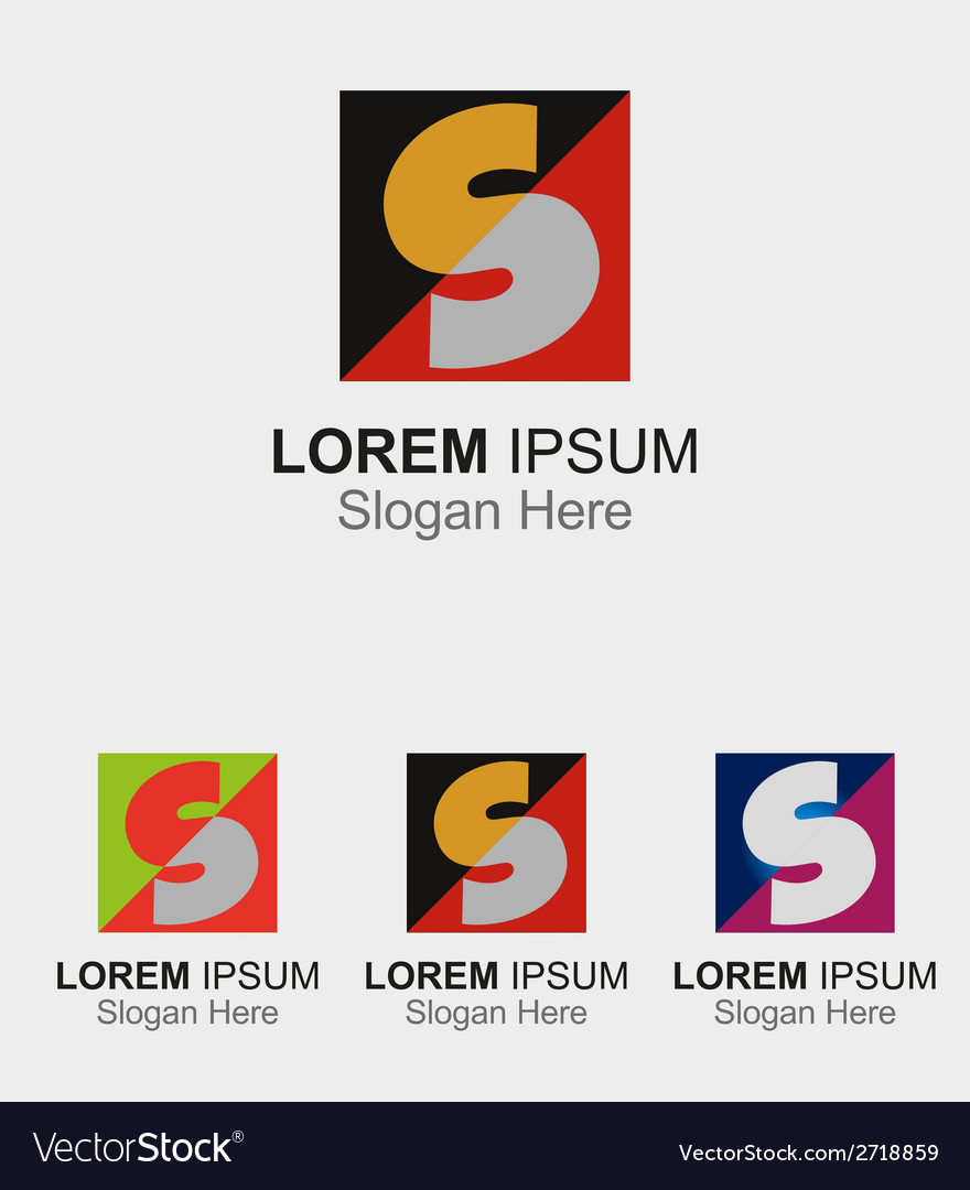 Square logo with letter s icon vector | Price: 1 Credit (USD $1)
