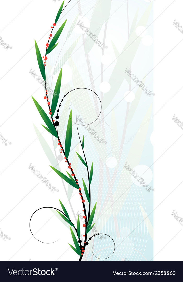 Branch with berries vector | Price: 1 Credit (USD $1)