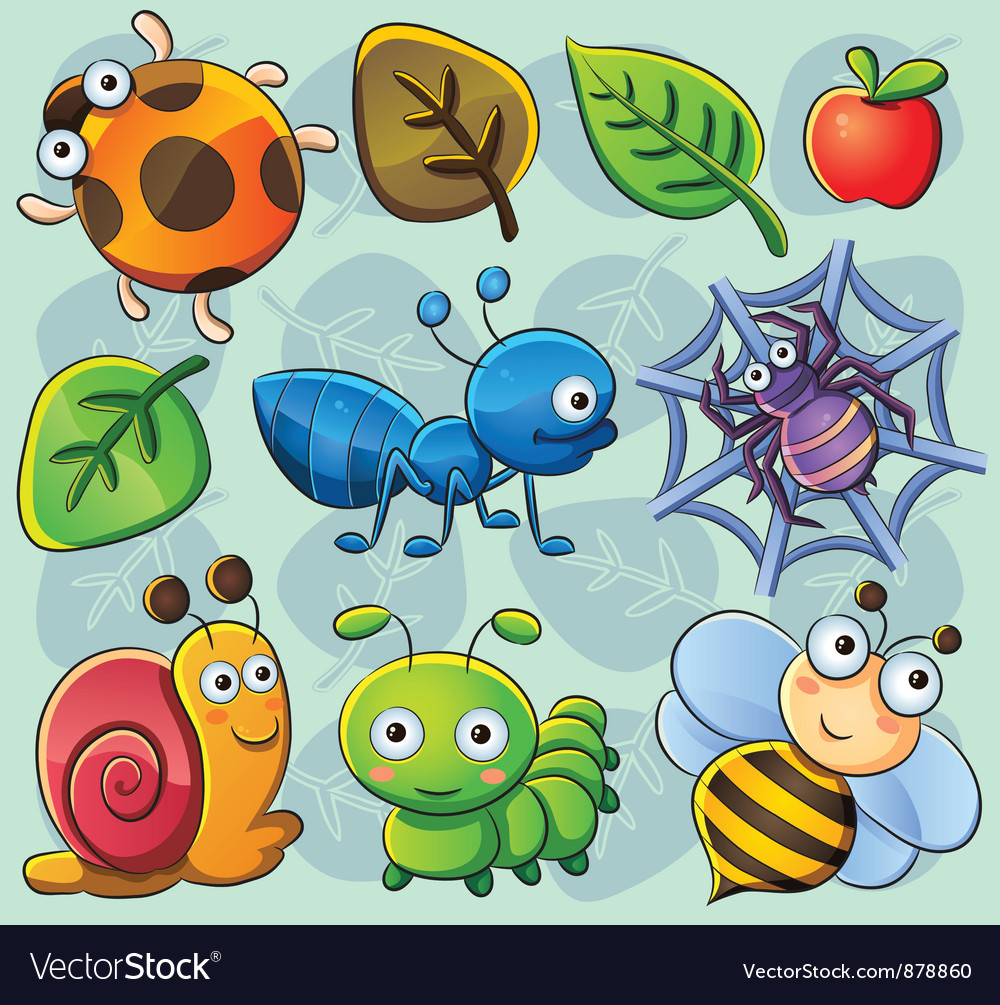Cute bugs vector | Price: 3 Credit (USD $3)
