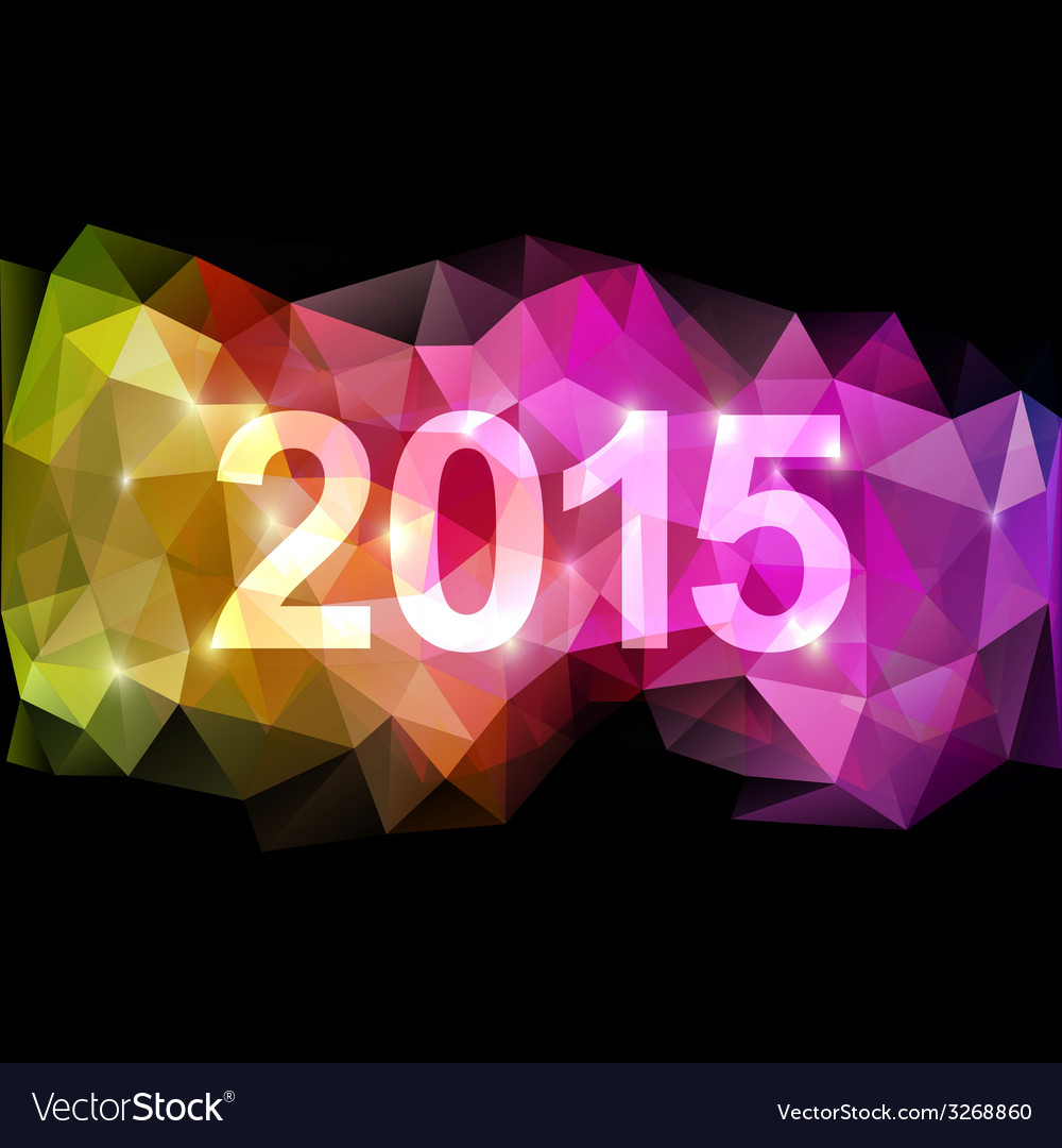 Fantasy 2015 new year background vector | Price: 1 Credit (USD $1)
