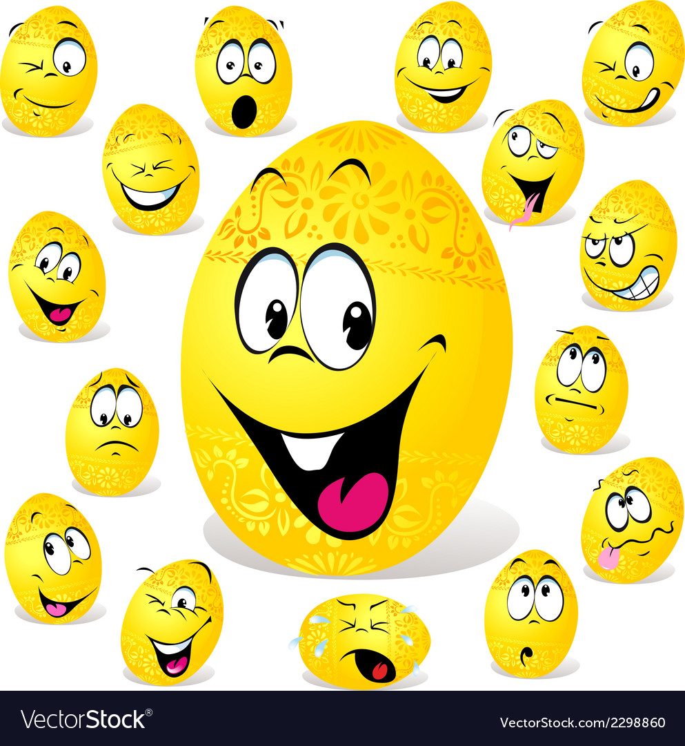Funny easter egg cartoon vector | Price: 1 Credit (USD $1)