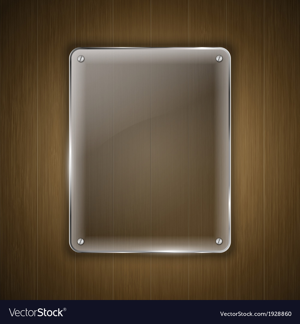 Glass on wood vector | Price: 1 Credit (USD $1)